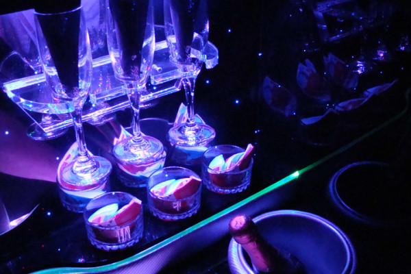 Champagne Glasses in Limousine