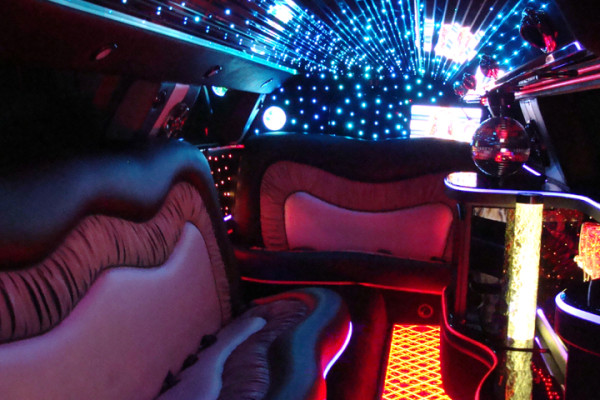 Two-Tone Chrysler Limo Interior