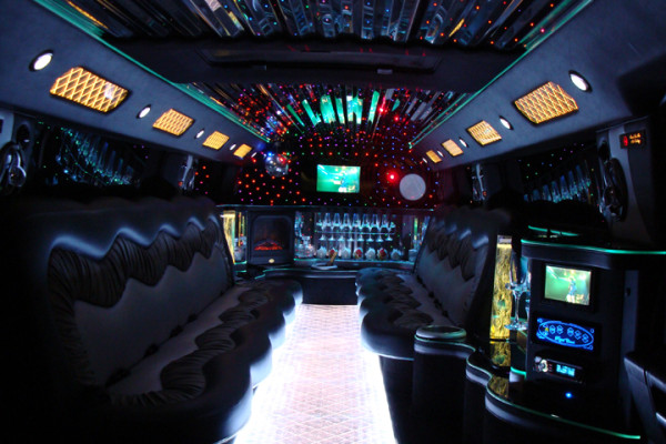 Newest H2 Hummer Limousine Interior