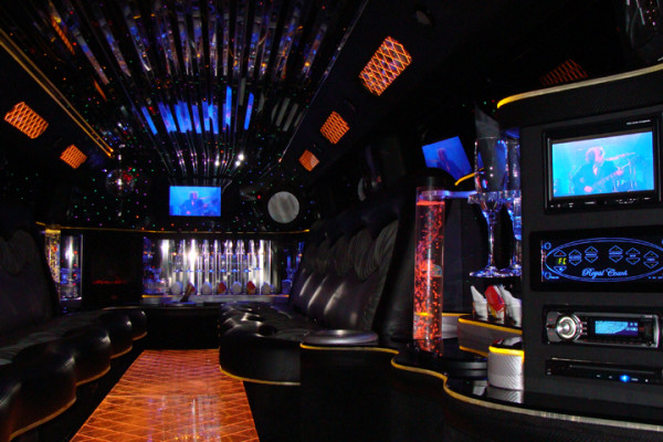 Newest H2 Hummer Limo Interior