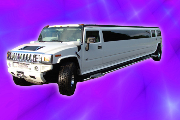 White H2 Hummer Limo Right Side